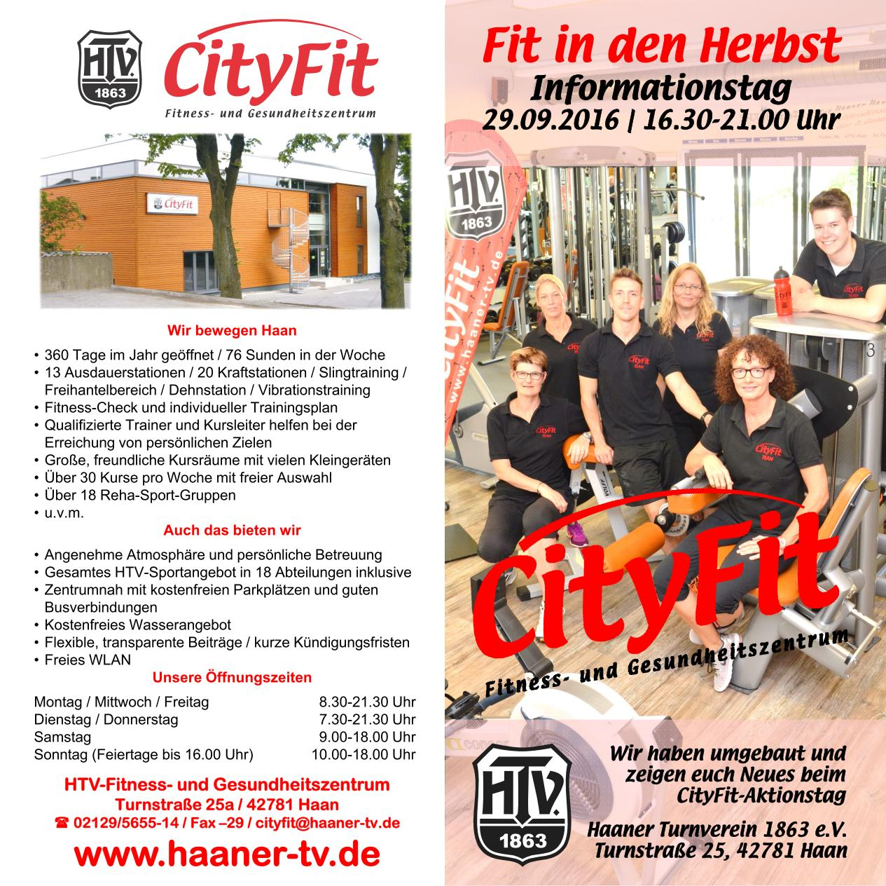 CityFit-Infotag - Umbau und neue Geräte