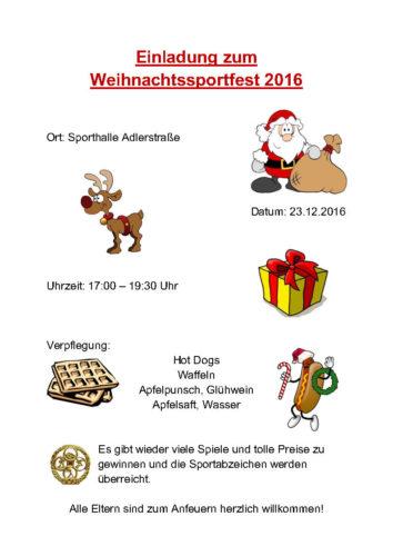 Leichtathleten feiern Weihnachten (23.12.2016)